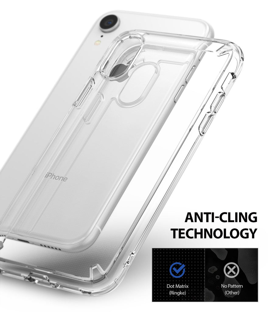 ringke fusion for apple iphone xr case cover anti-cling technology