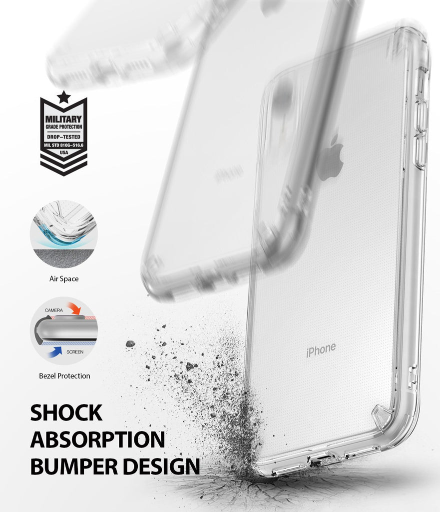ringke fusion for apple iphone xr case cover shockproof protection