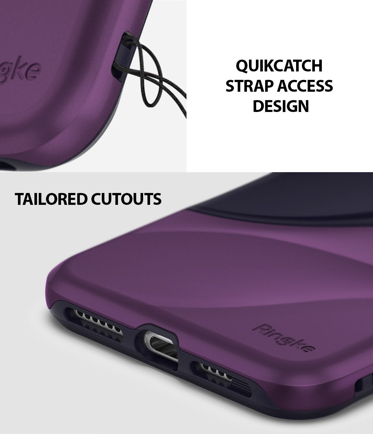 ringke wave for iphone xr case cover quickcatch strap access