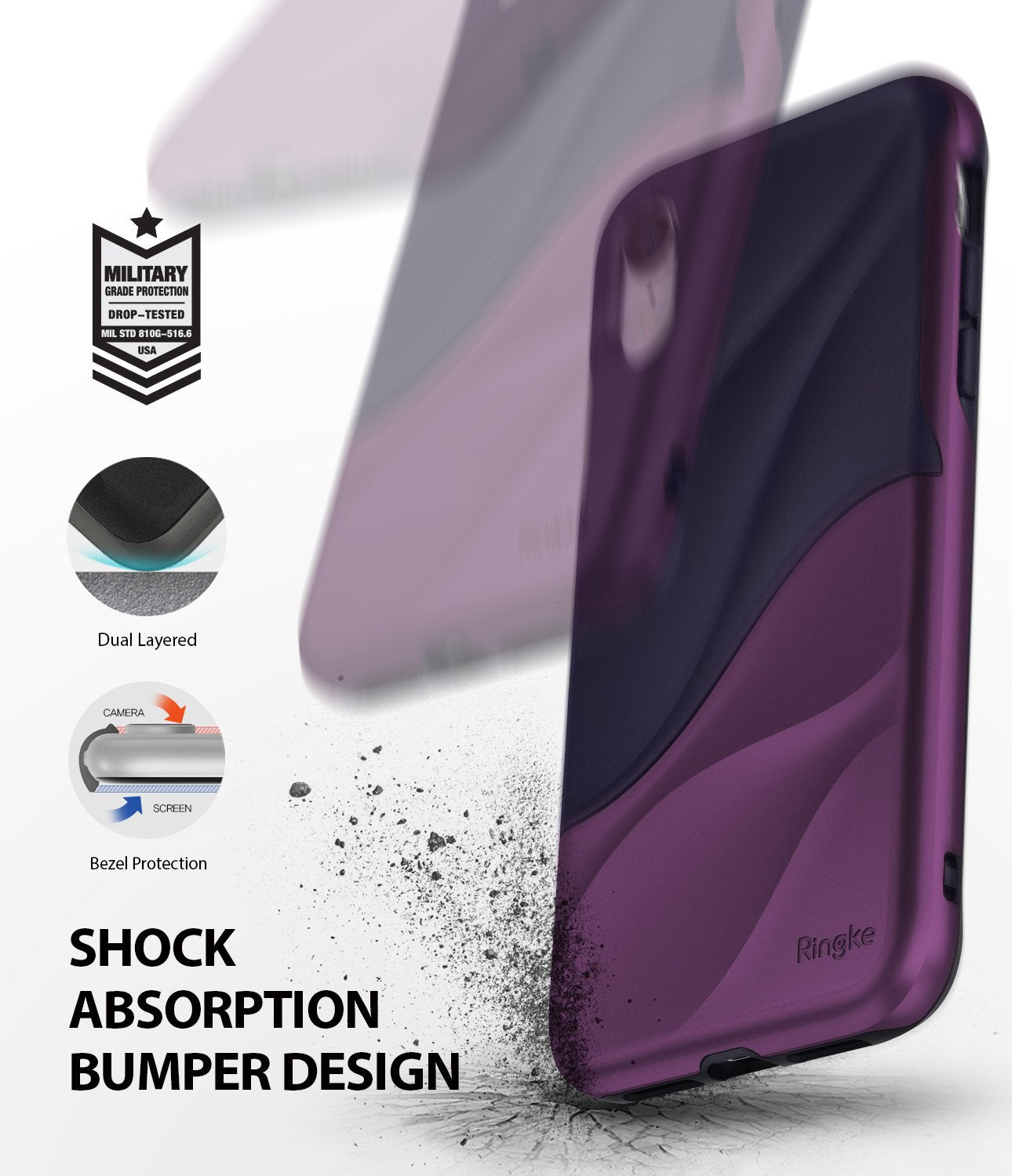 ringke wave for iphone xr case cover shockproof protection