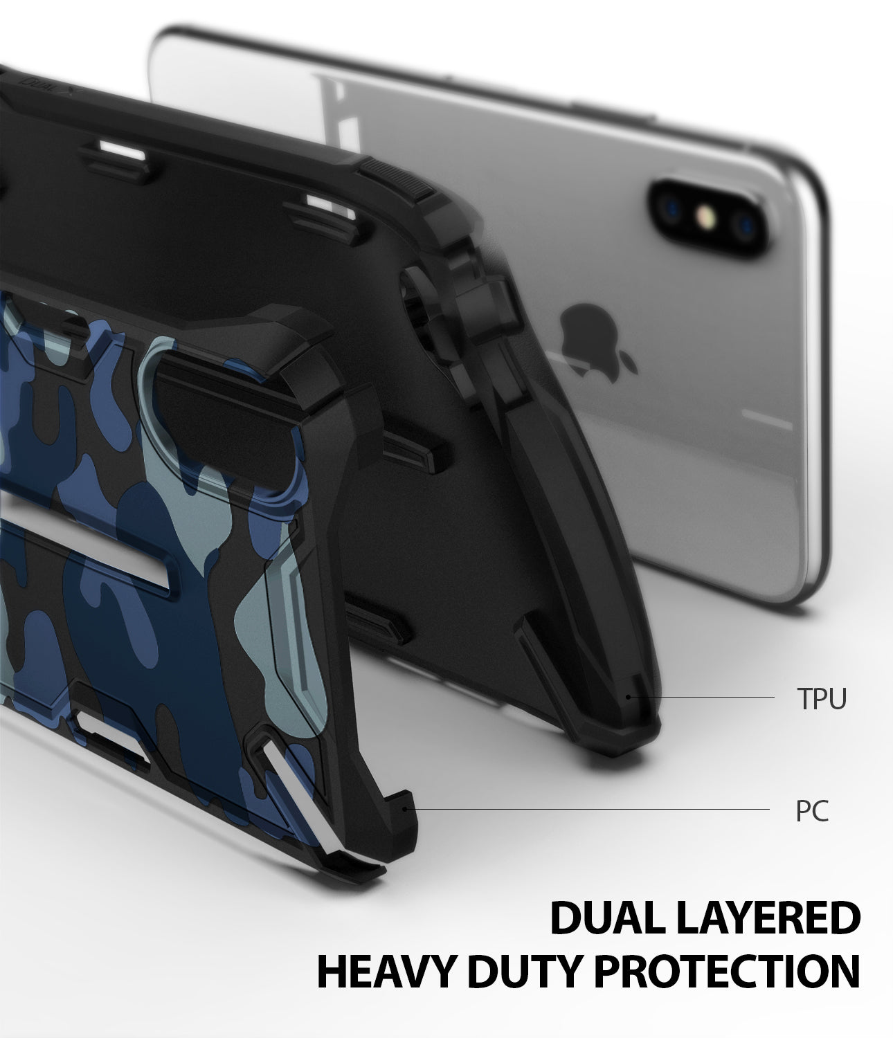 ringke dual-x for iphone xs case cover main dual layered protection