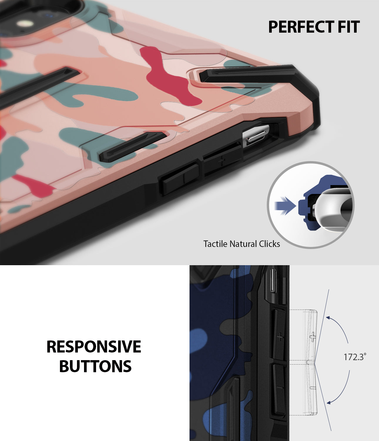 ringke dual-x for iphone xs case cover detail image