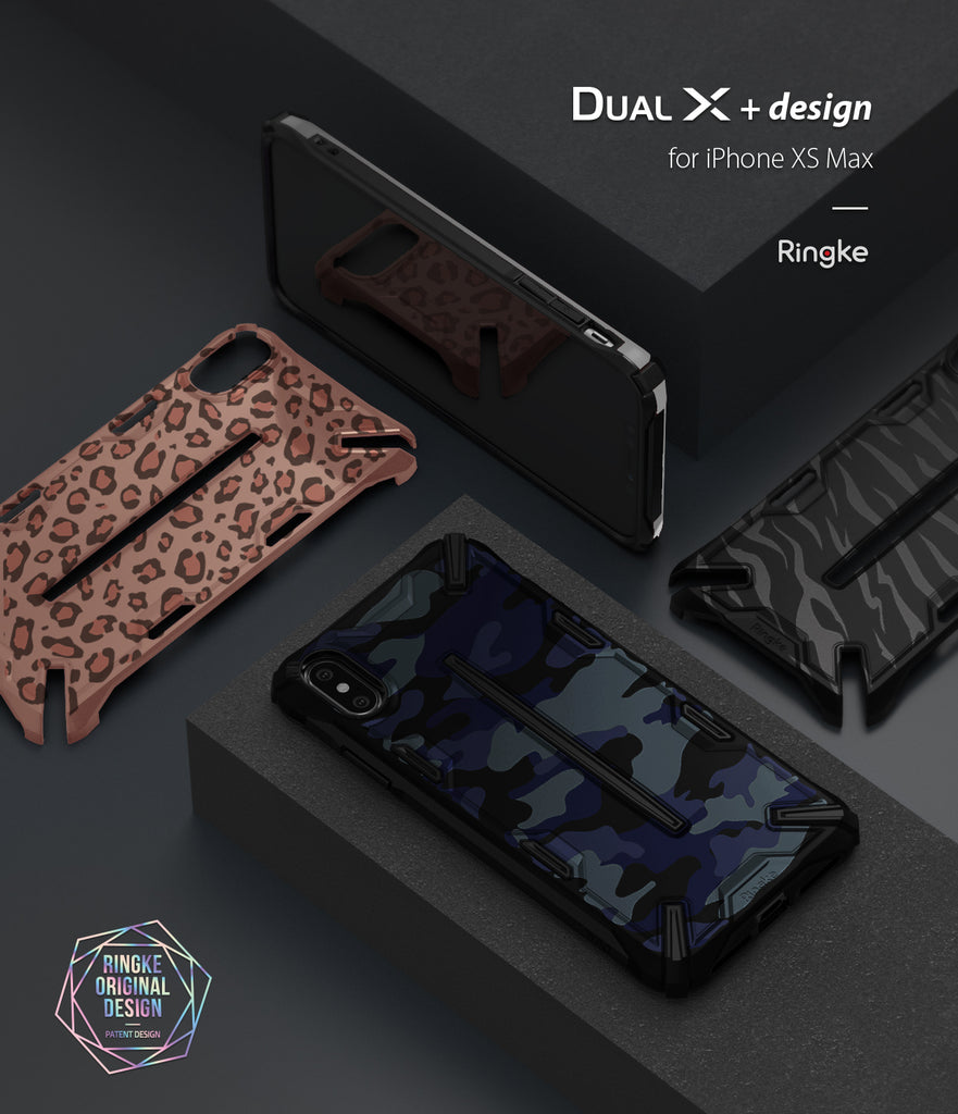 ringke dual-x design for apple iphone xs max case cover main
