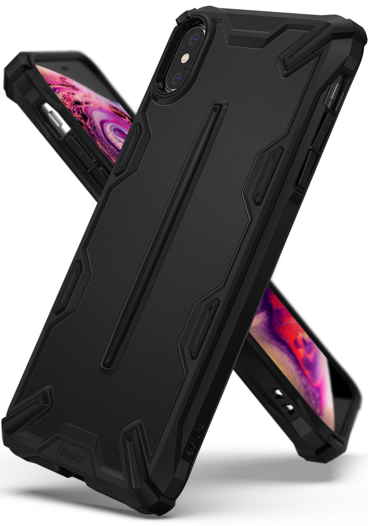 ringke dual-x for apple iphone xs max case cover main sf black