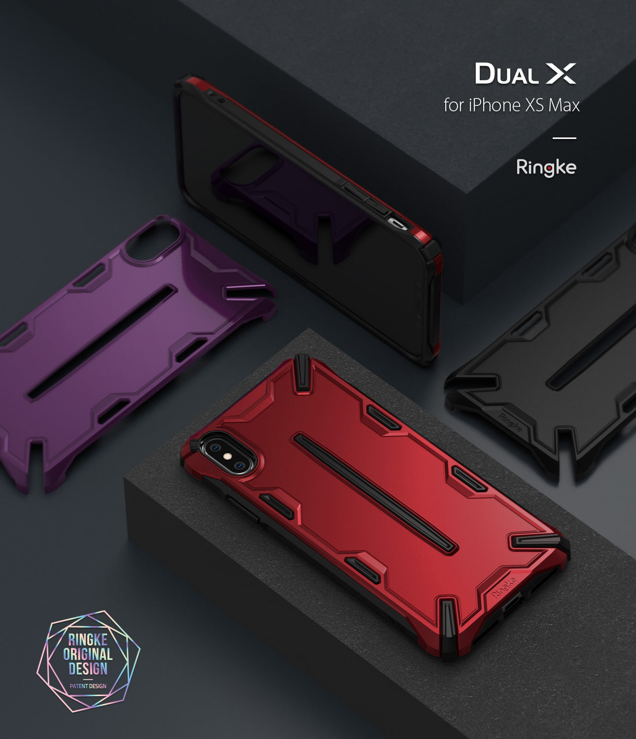 ringke dual-x for apple iphone xs max case cover main