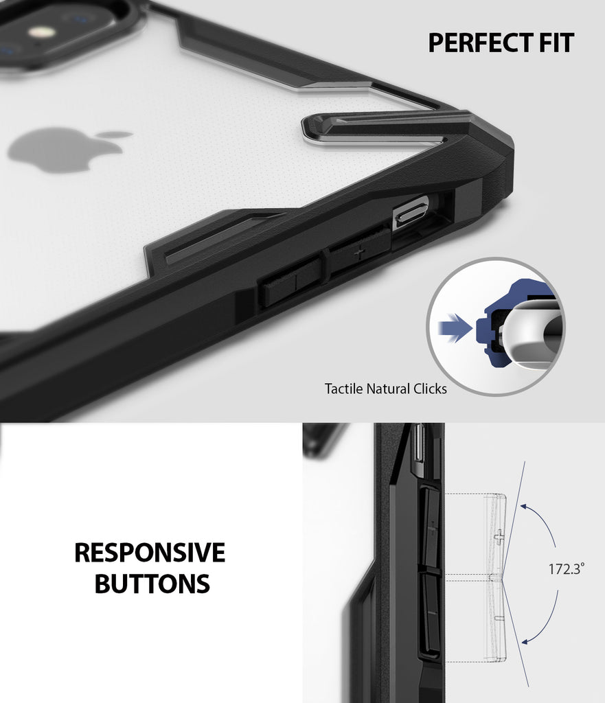 ringke fusion-x for apple iphone xs max case cover detail image