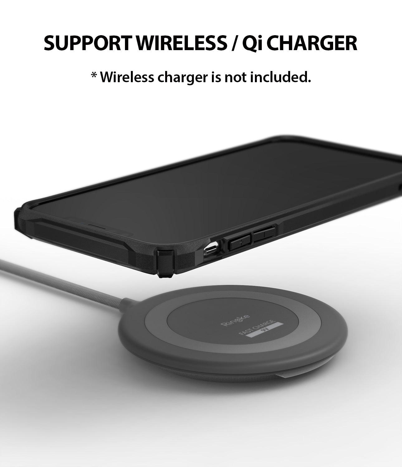 ringke fusion-x for apple iphone xs max case cover wireless charging compatible