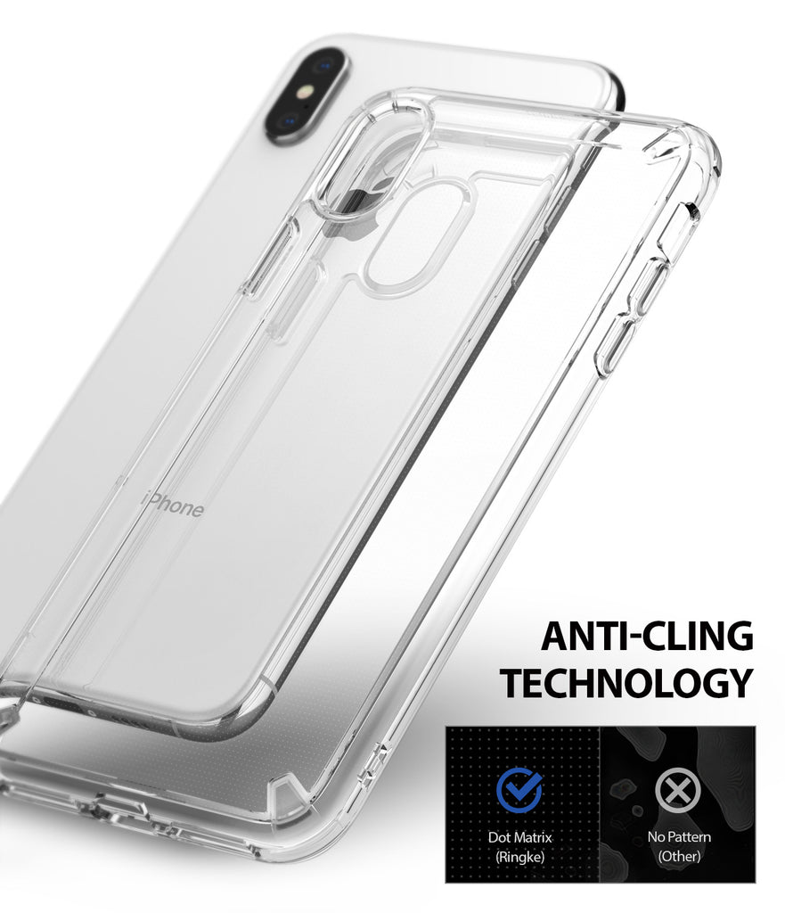 ringke fusion for apple iphone xs max case cover anti cling technology