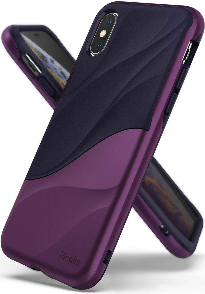 ringke wave for iphone xs case cover main metallic purple