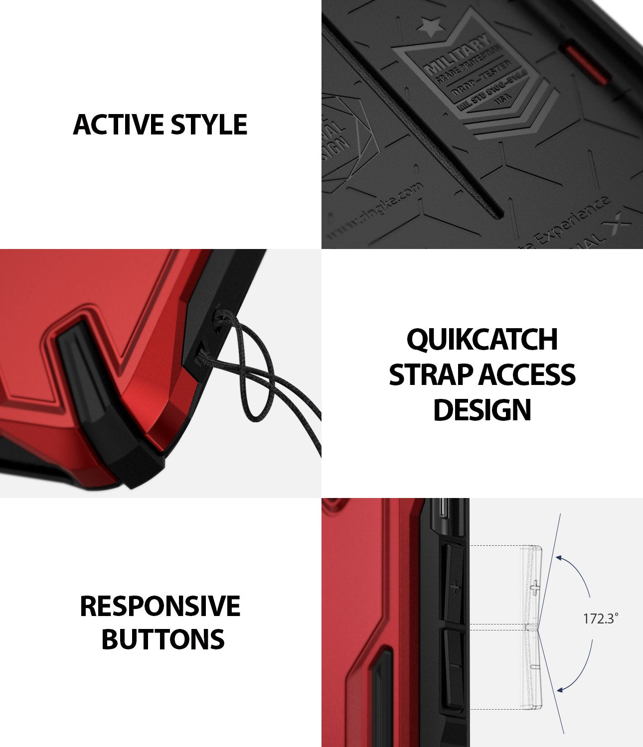 ringke dual-s for iphone xs case cover detail image