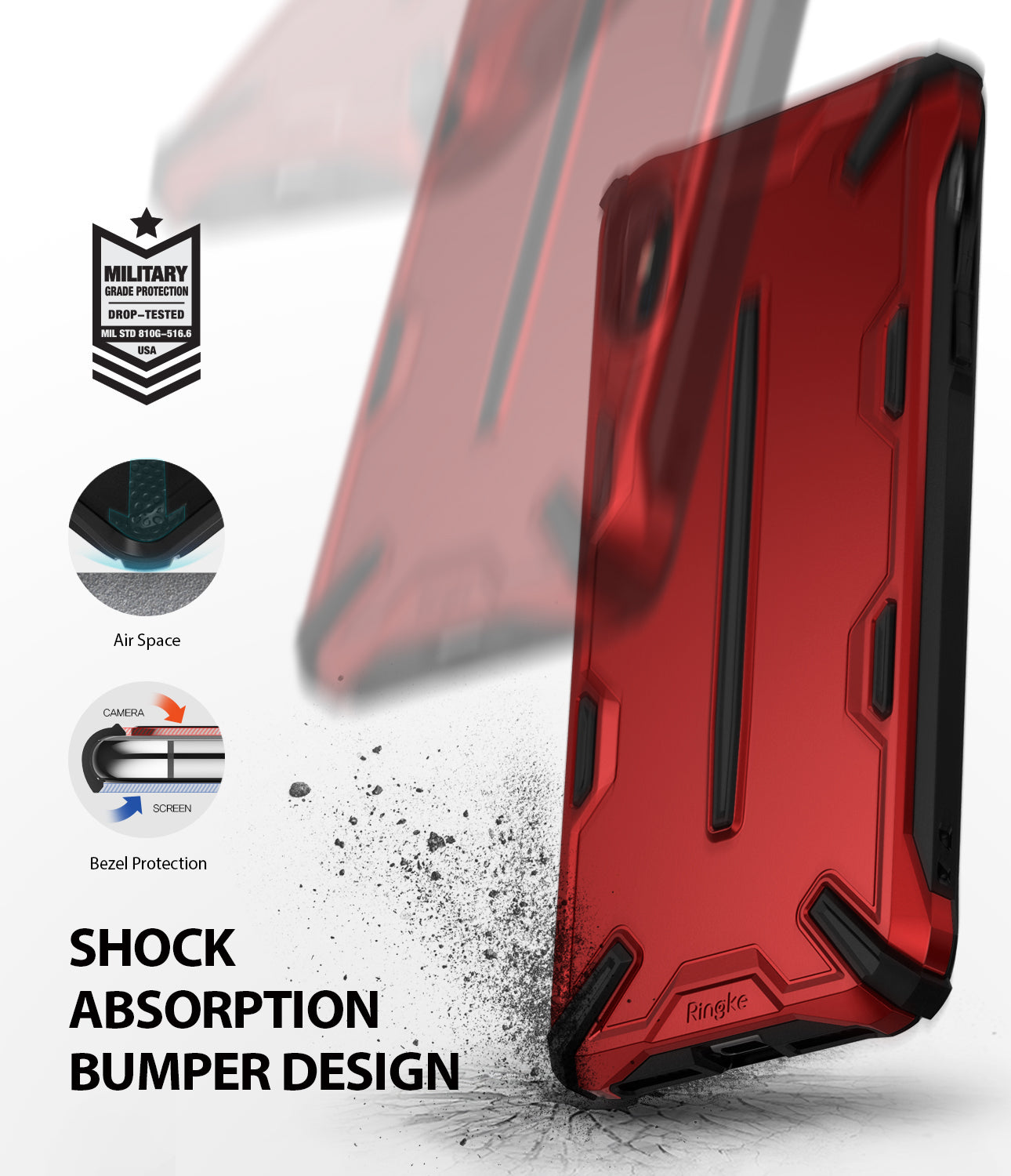 ringke dual-s for iphone xs case cover shockproof design
