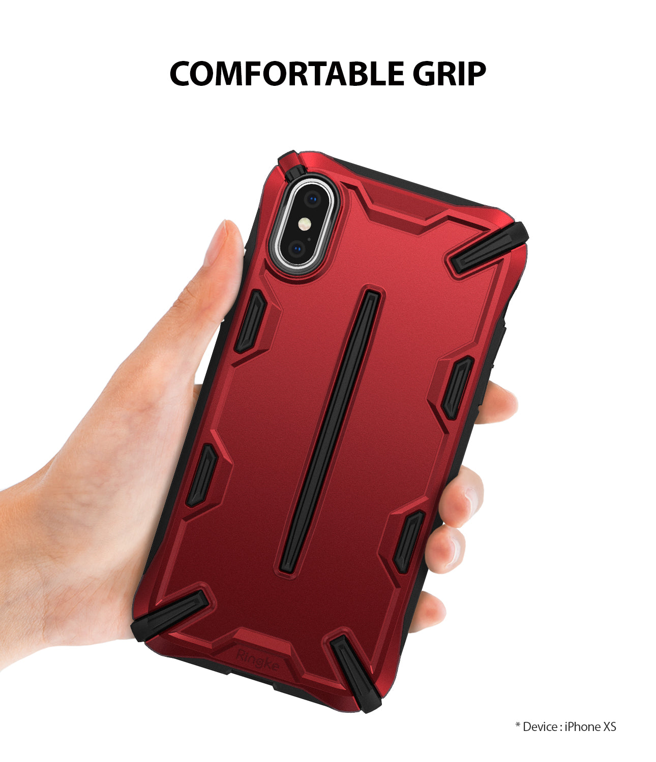 ringke dual-s for iphone xs case cover comfortable grip