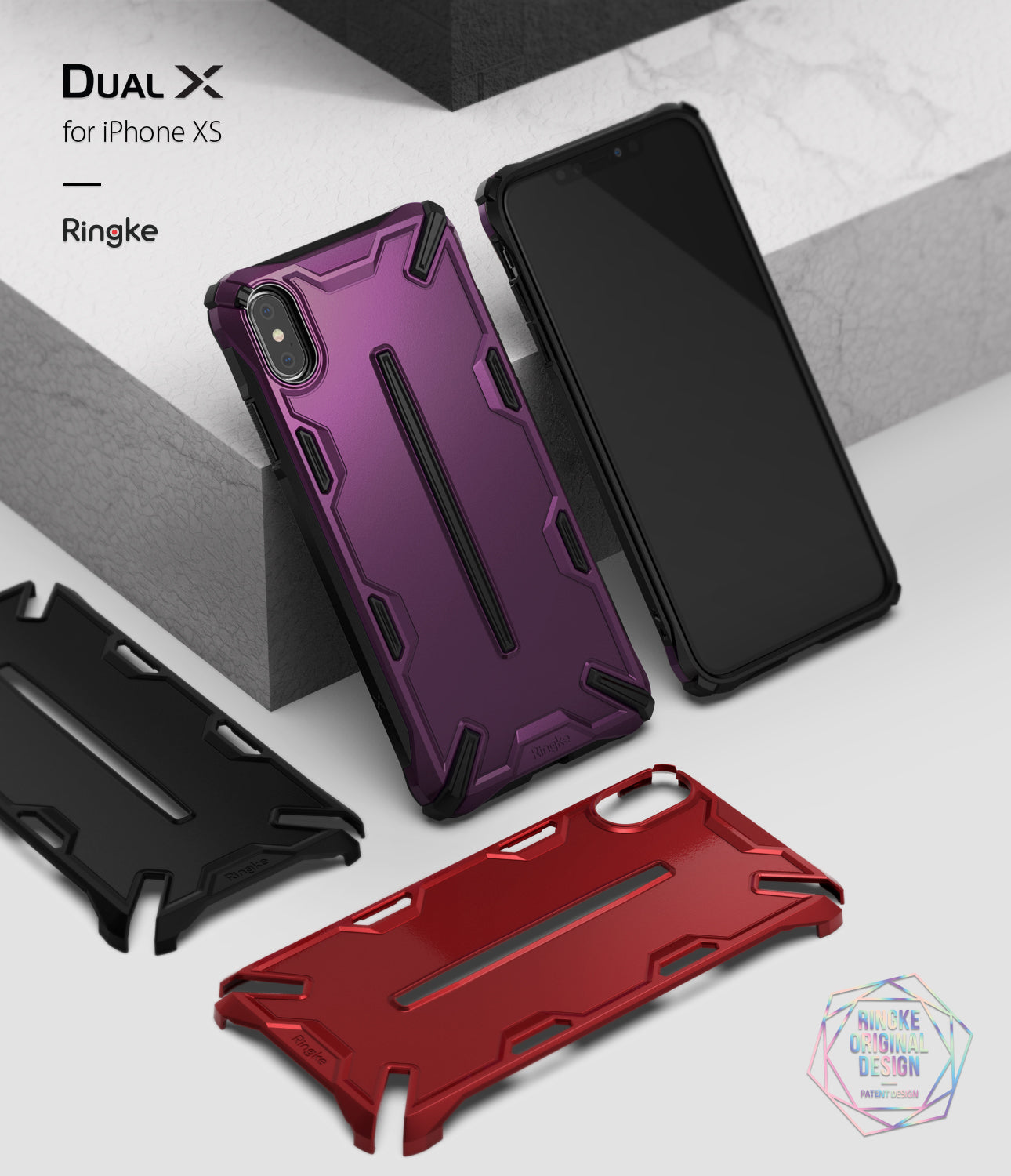 ringke dual-s for iphone xs case cover main