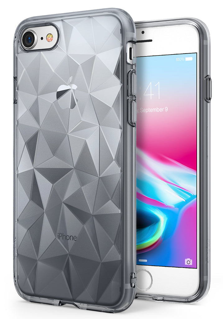 ringke air prism 3d pyramid design back case cover for iphone 7 8 main glitter gray