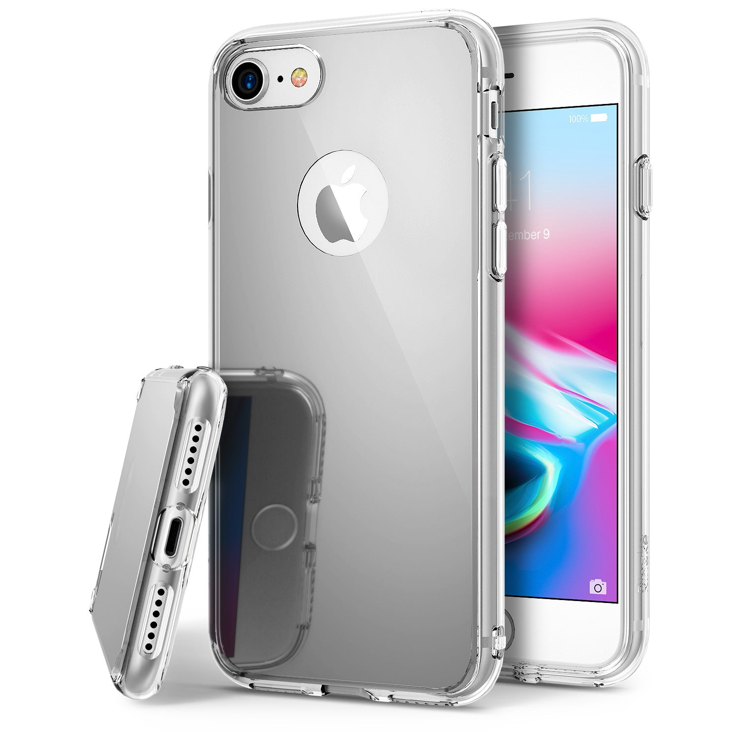ringke mirror back case cover for iphone 7 8 main silver