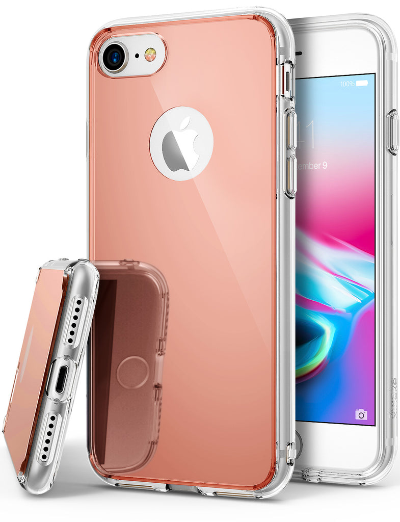 ringke mirror back case cover for iphone 7 8 main rose gold