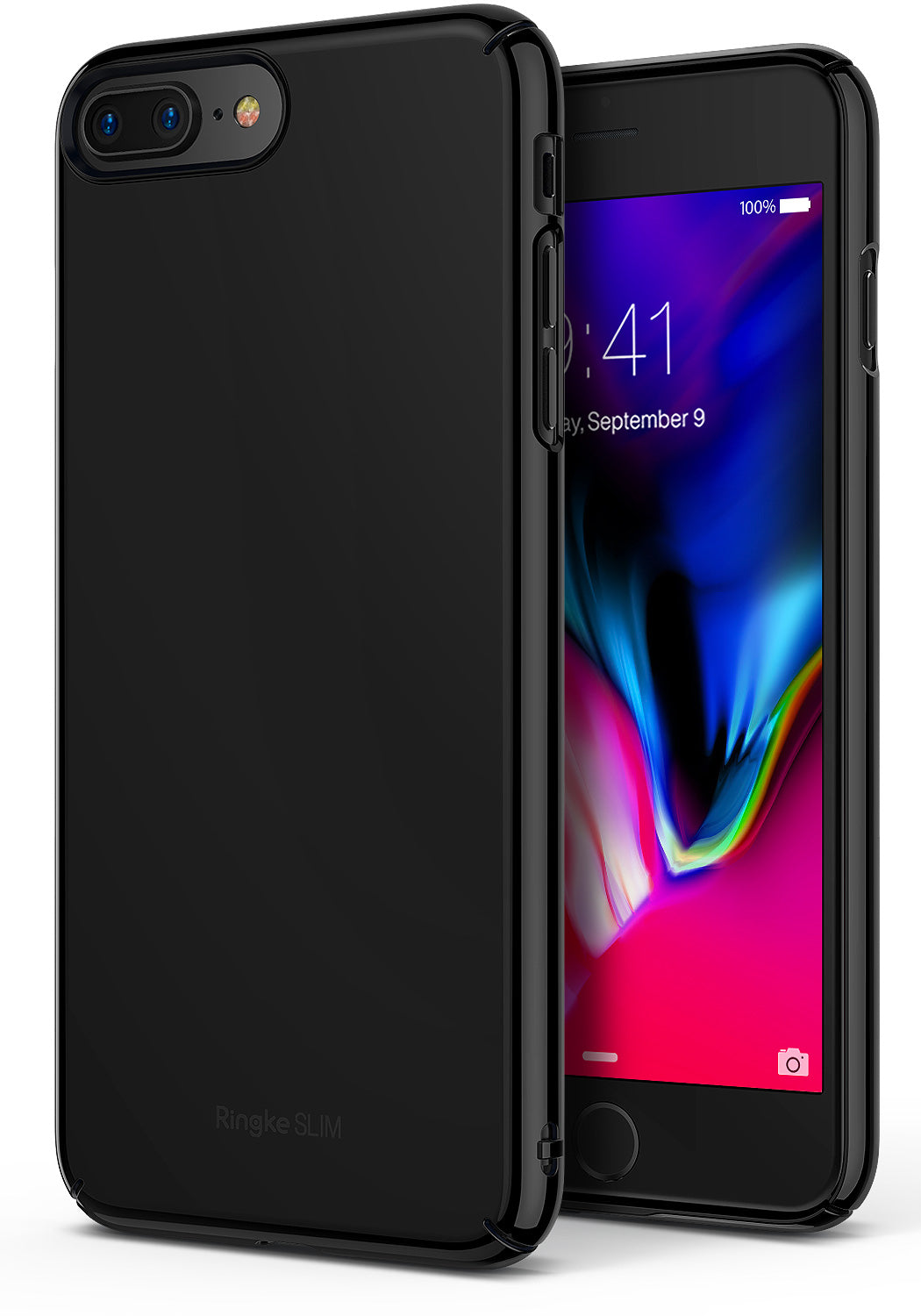 ringke slim hard pc thin case cover for iphone 7 plus 8 plus main gloss black