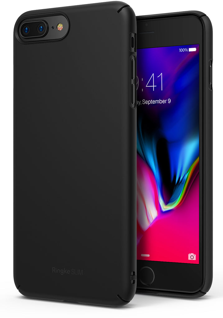 ringke slim hard pc thin case cover for iphone 7 plus 8 plus main black