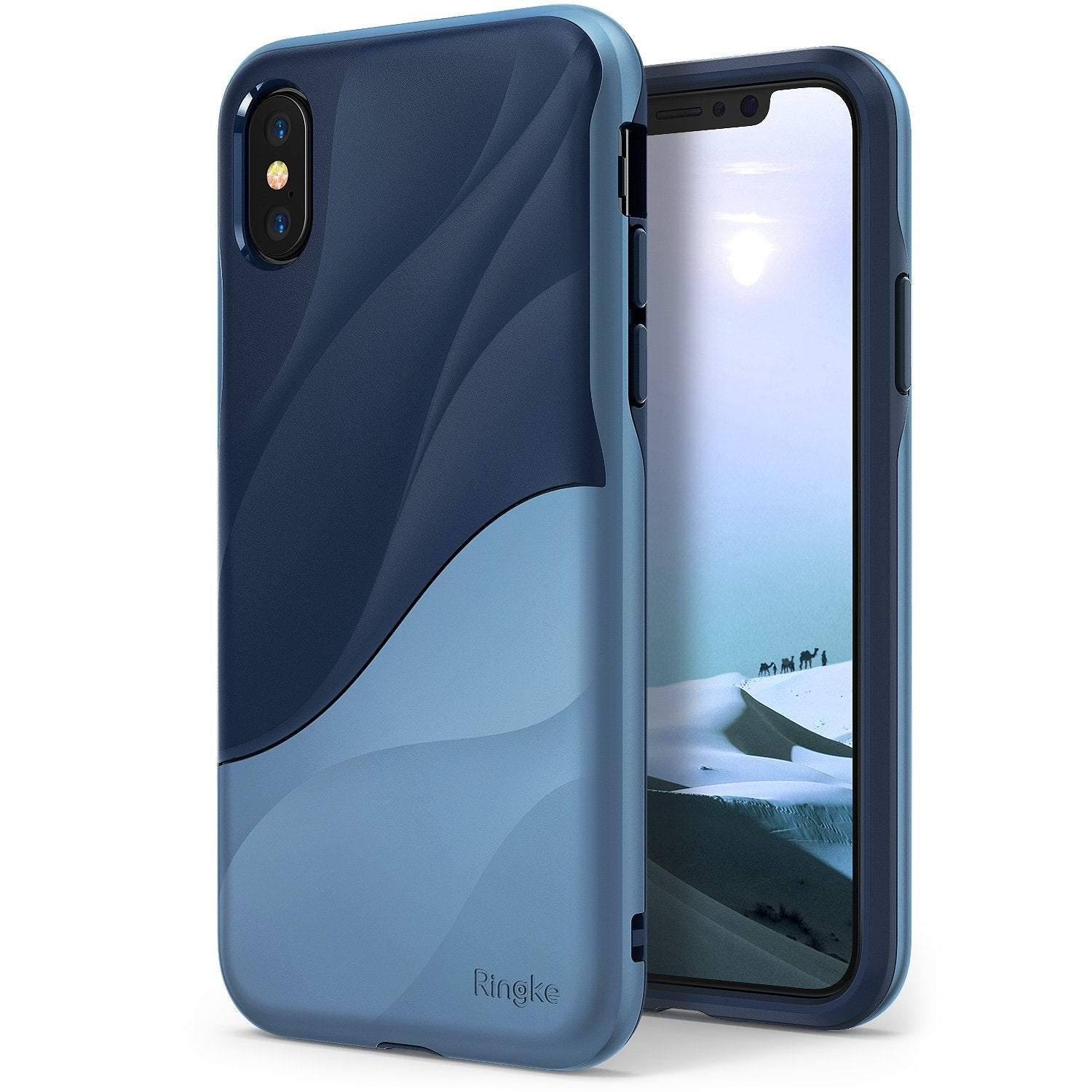 ringke wave for iphone x case cover main coastal blue
