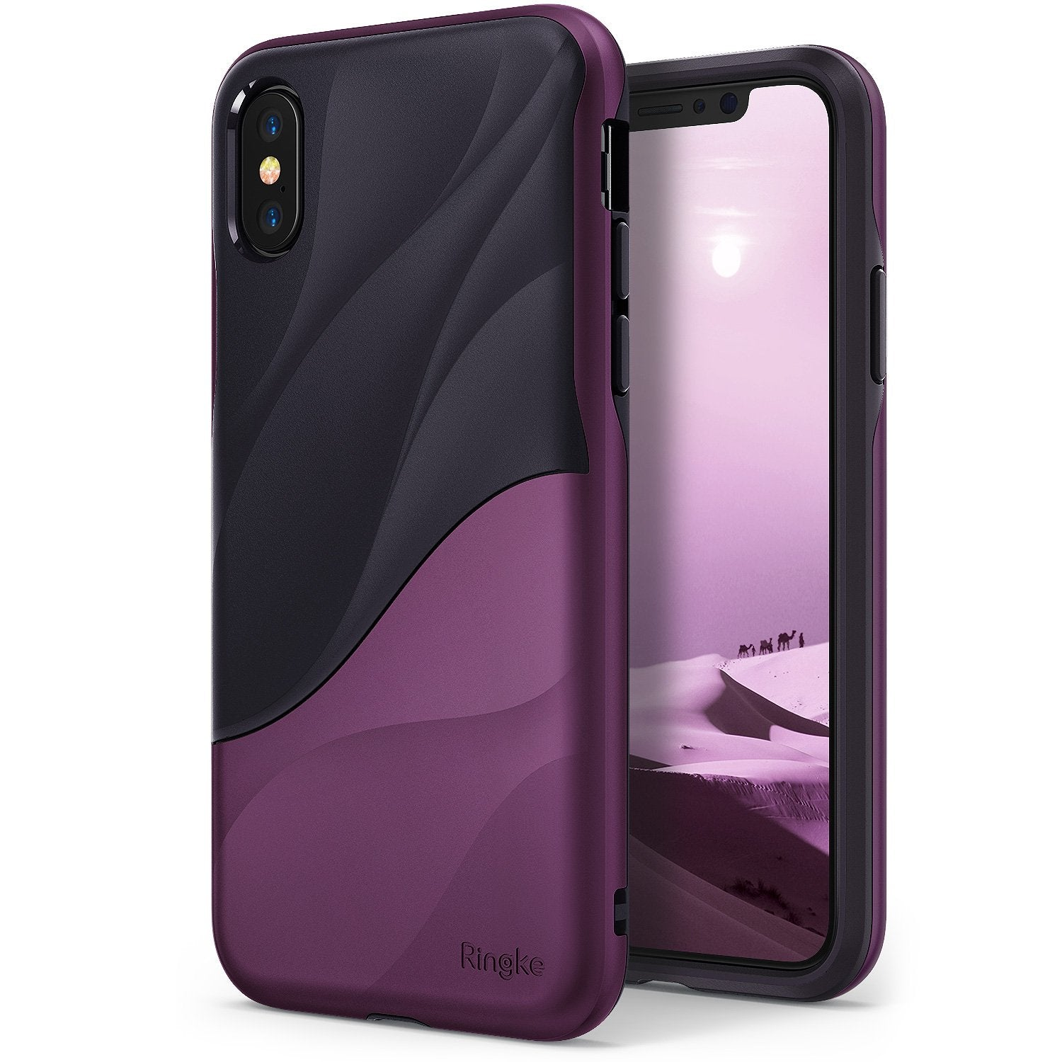 ringke wave for iphone x case cover main metallic purple