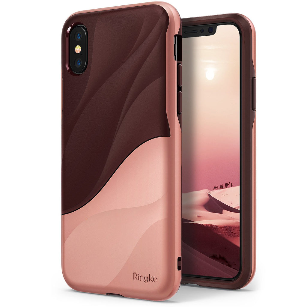ringke wave for iphone x case cover main rose blush