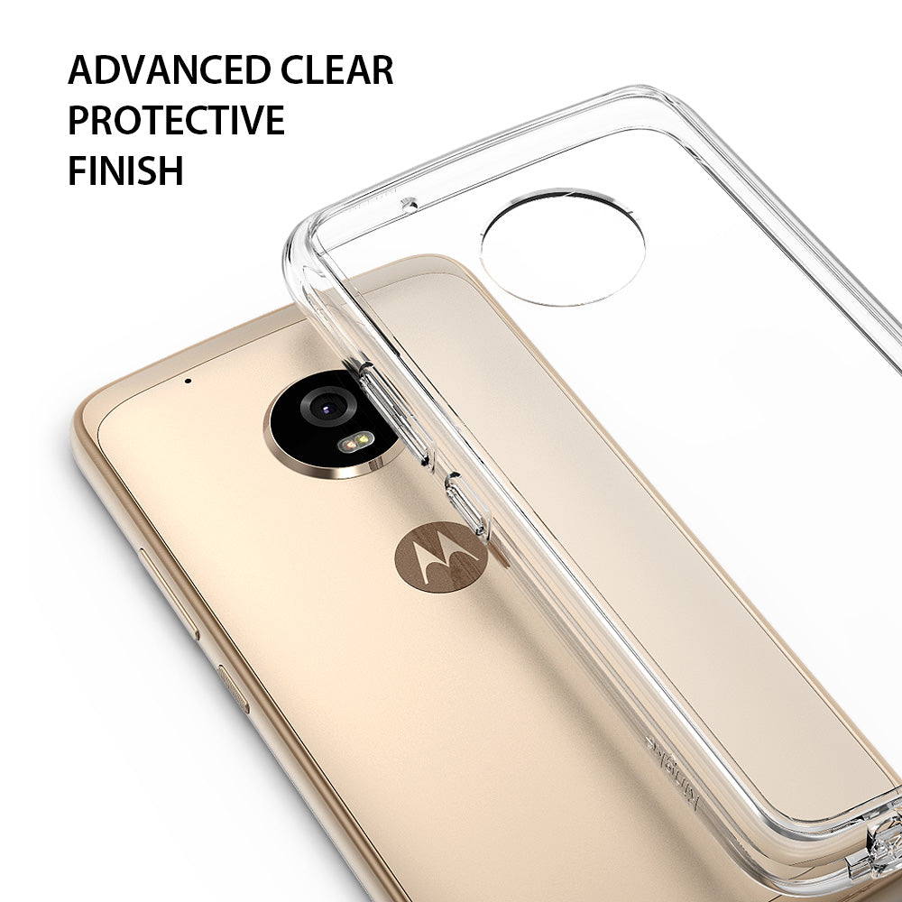 ringke fusion clear transparent hard pc back cover case for moto g5 plus main protective finish