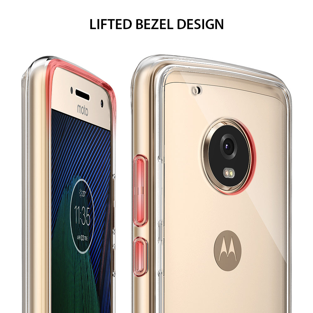 ringke fusion clear transparent hard pc back cover case for moto g5 plus main lifted bezel design