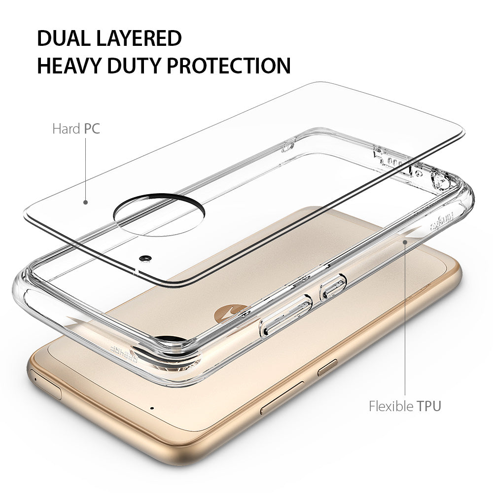 ringke fusion clear transparent hard pc back cover case for moto g5 plus main dual layered protection