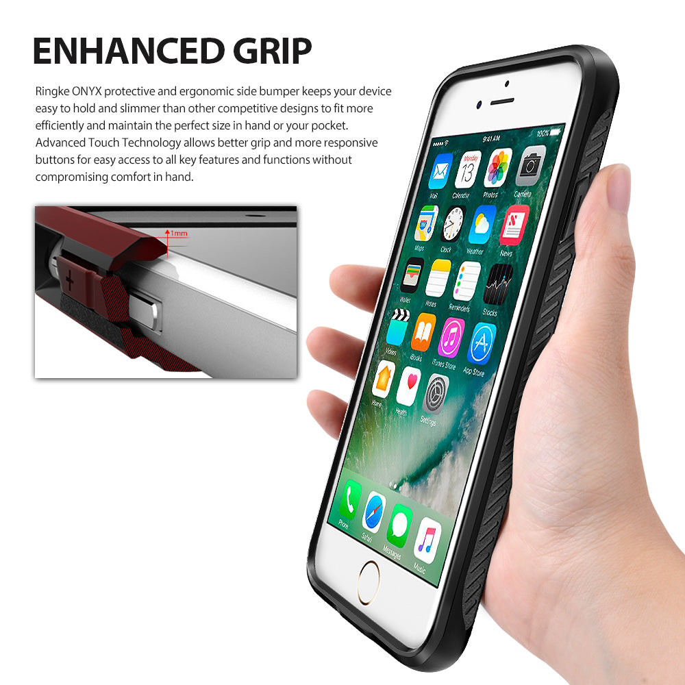 ringke onyx rugged flexible tpu case cover for iphone 7 plus 8 plus main comfortable grip