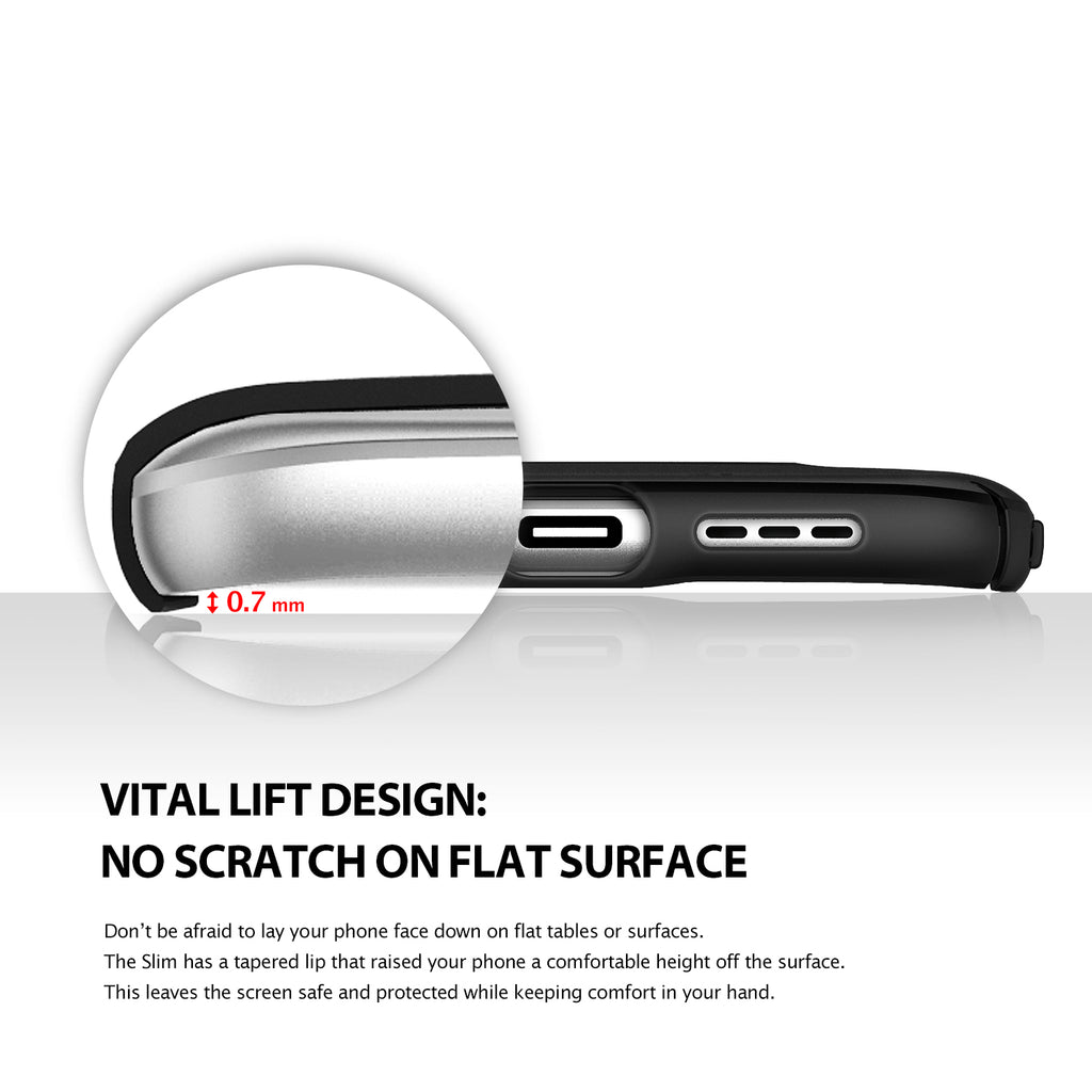 vital lift design: no scratch on flat surface