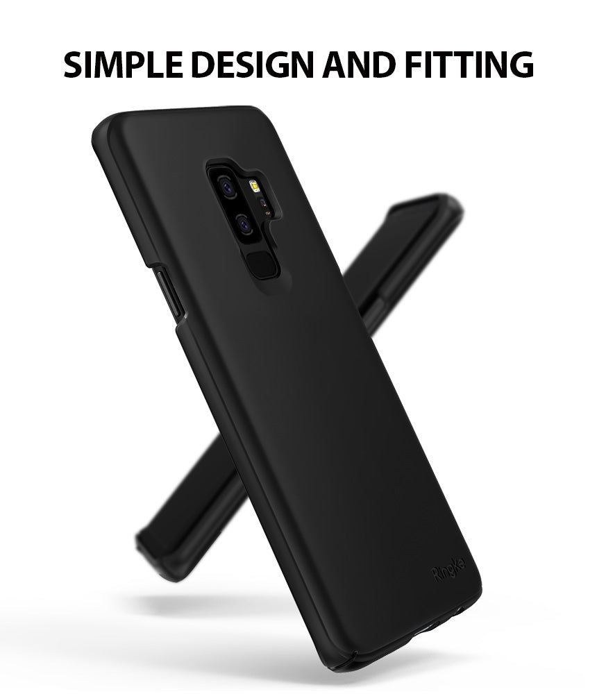 ringke slim lightweight thin hard pc back cover for galaxy s9 plus  simple design
