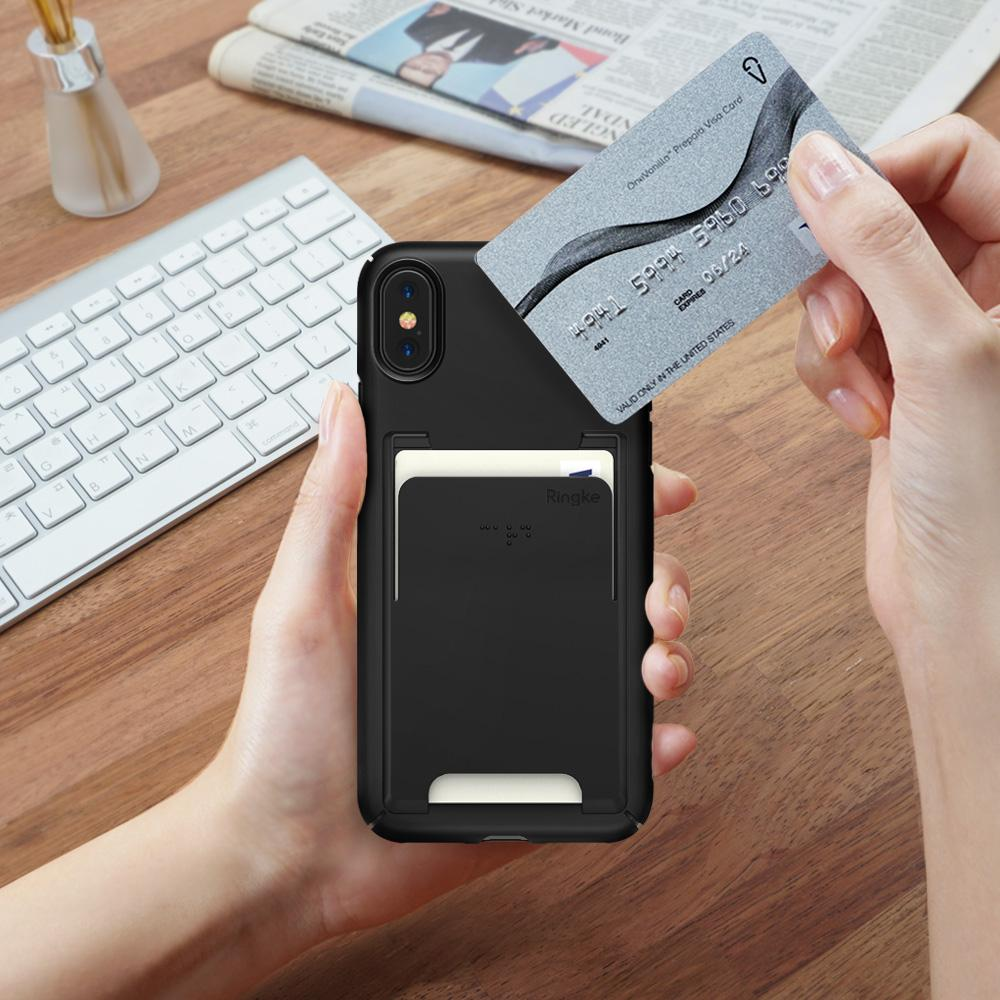 ringke slim slot for iphone x case cover main card holder
