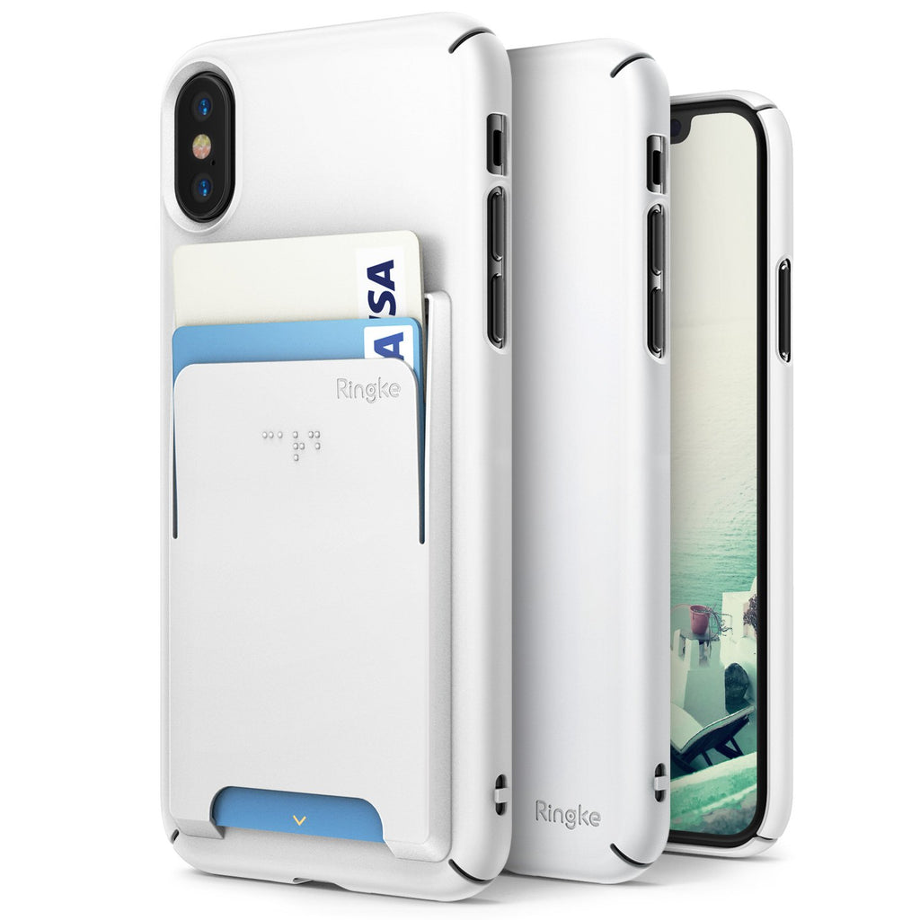 ringke slim slot for iphone x case cover main white
