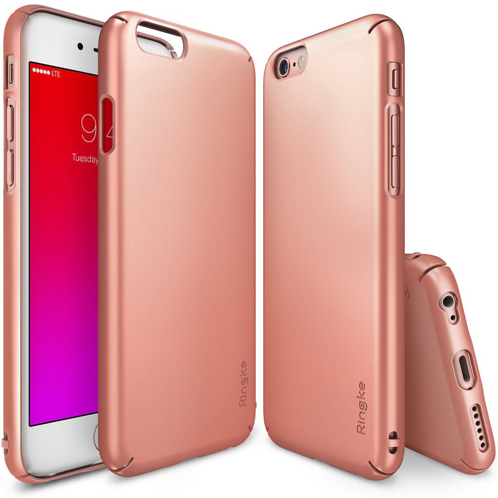 ringke slim lightweight hard pc thin case cover for iphone 6s plus main rose gold