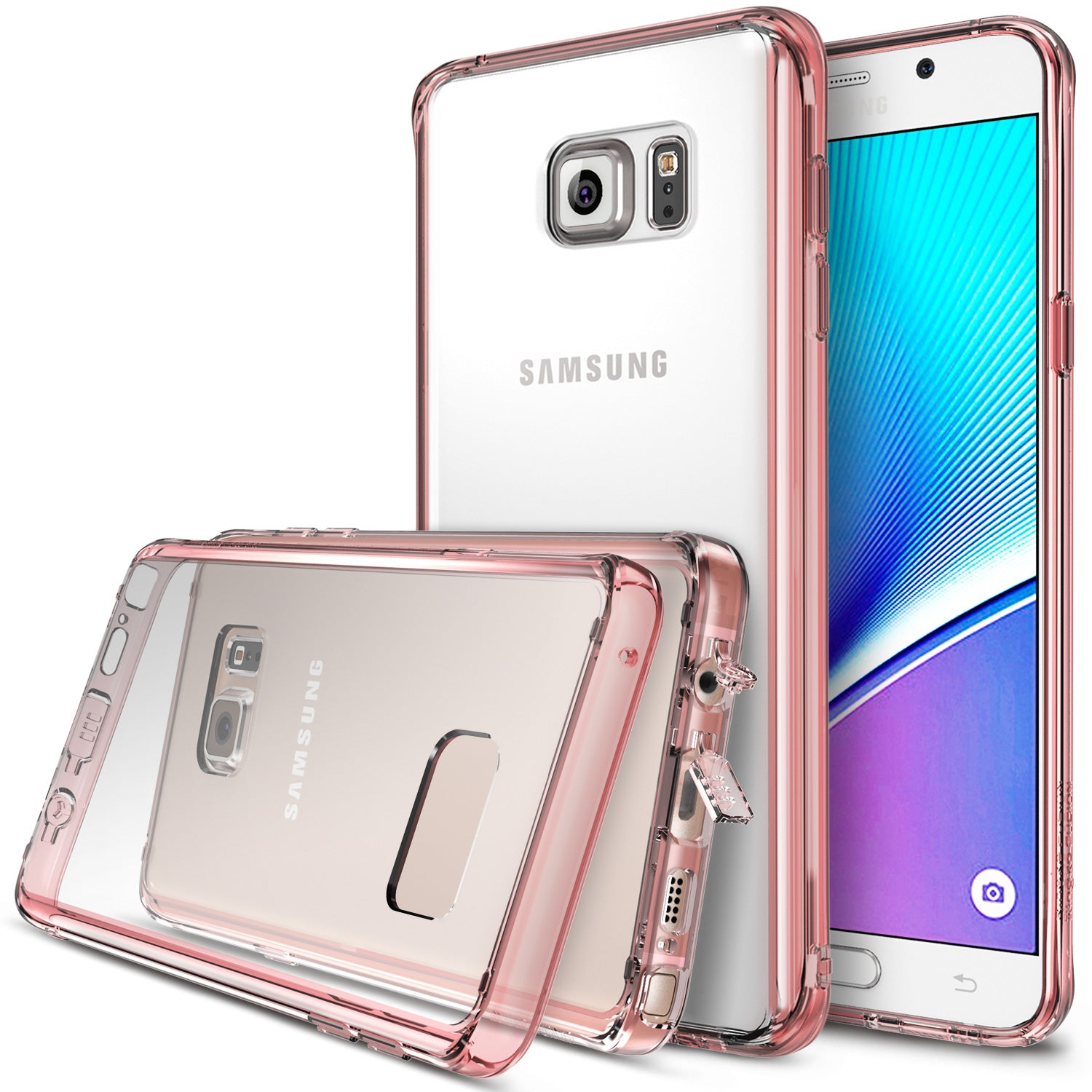 ringke fusion for samsung galaxy note 5 - rose gold
