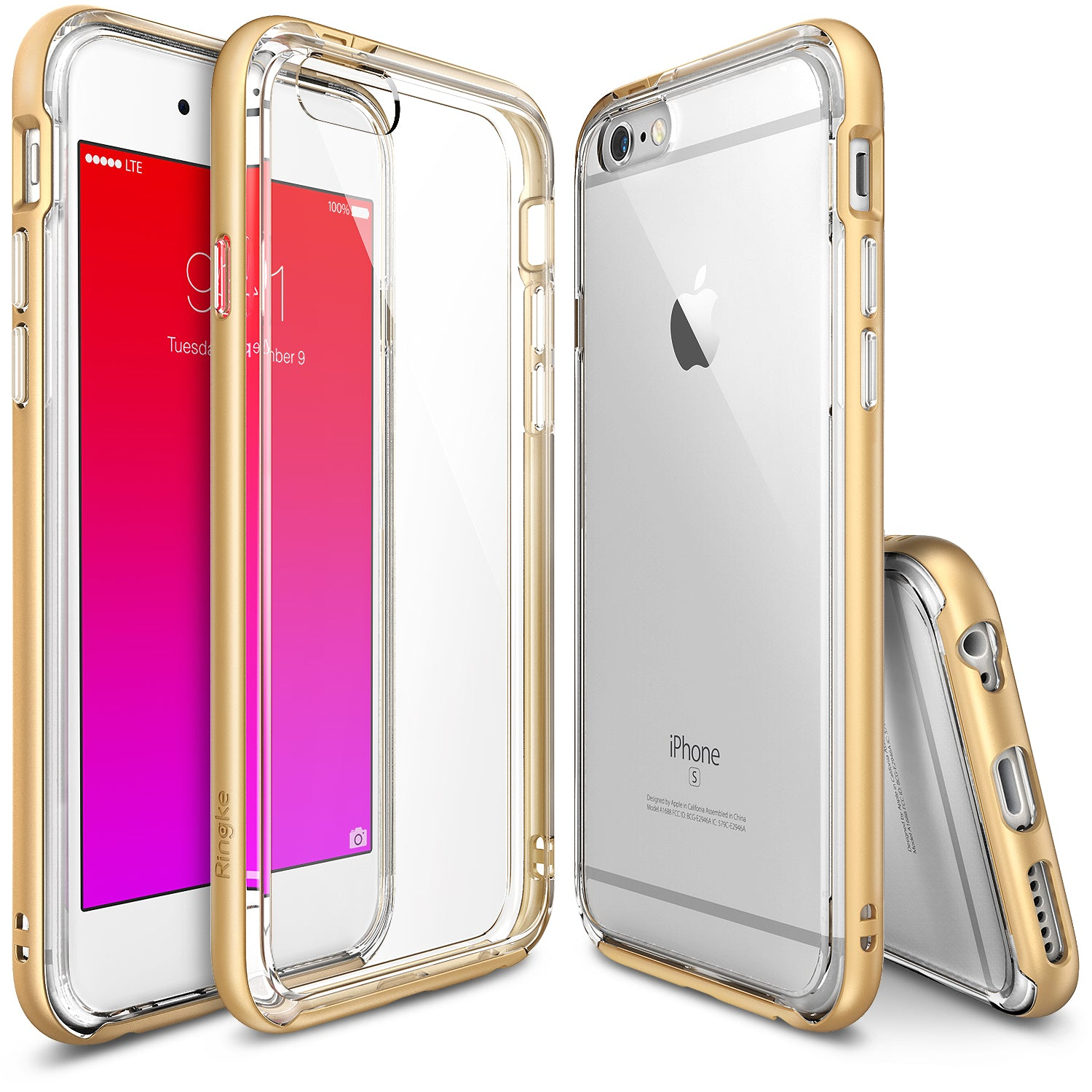 ringke frame bezel side protection case cover for iphone 6 6s main royal gold