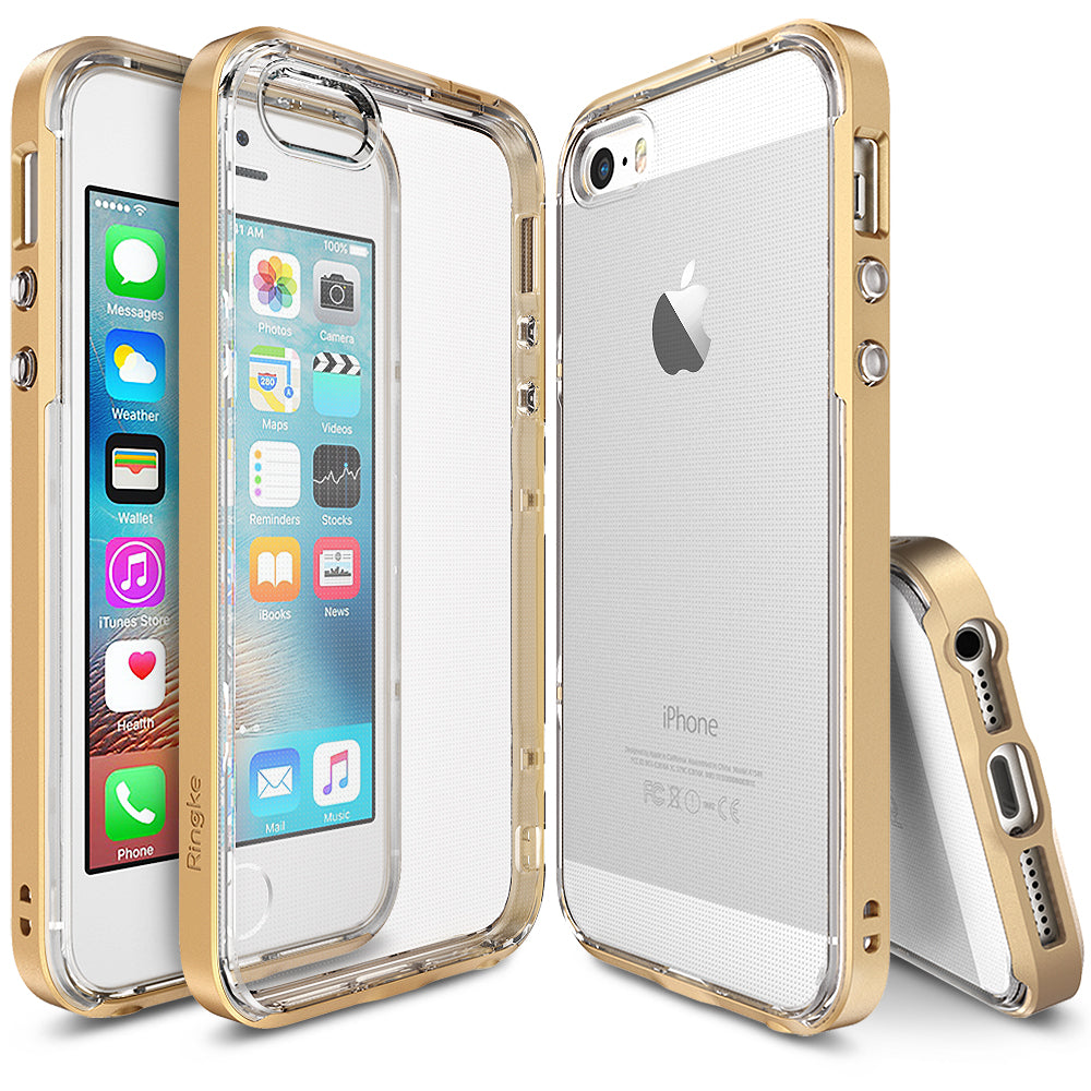 ringke frame heavy duty bumper case cover for iphone se 5s 5 main Royal Gold