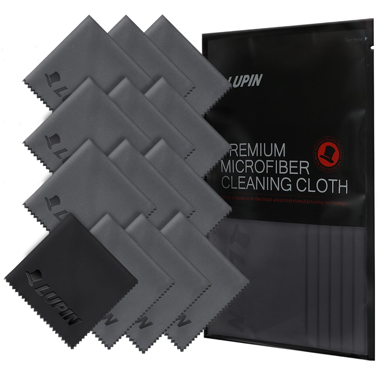 microfiber cleaning cloths 13 pack gray