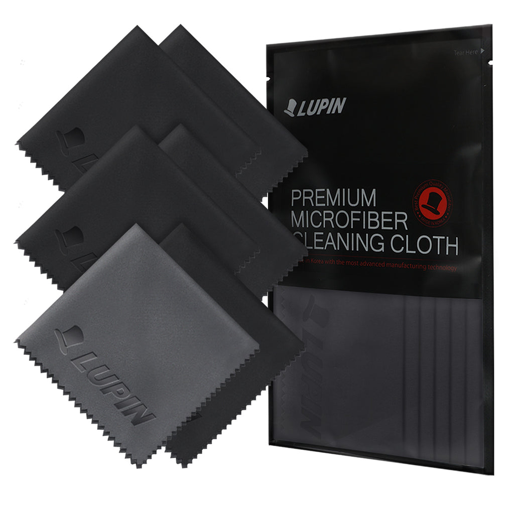 microfiber cleaning cloths 6 pack black
