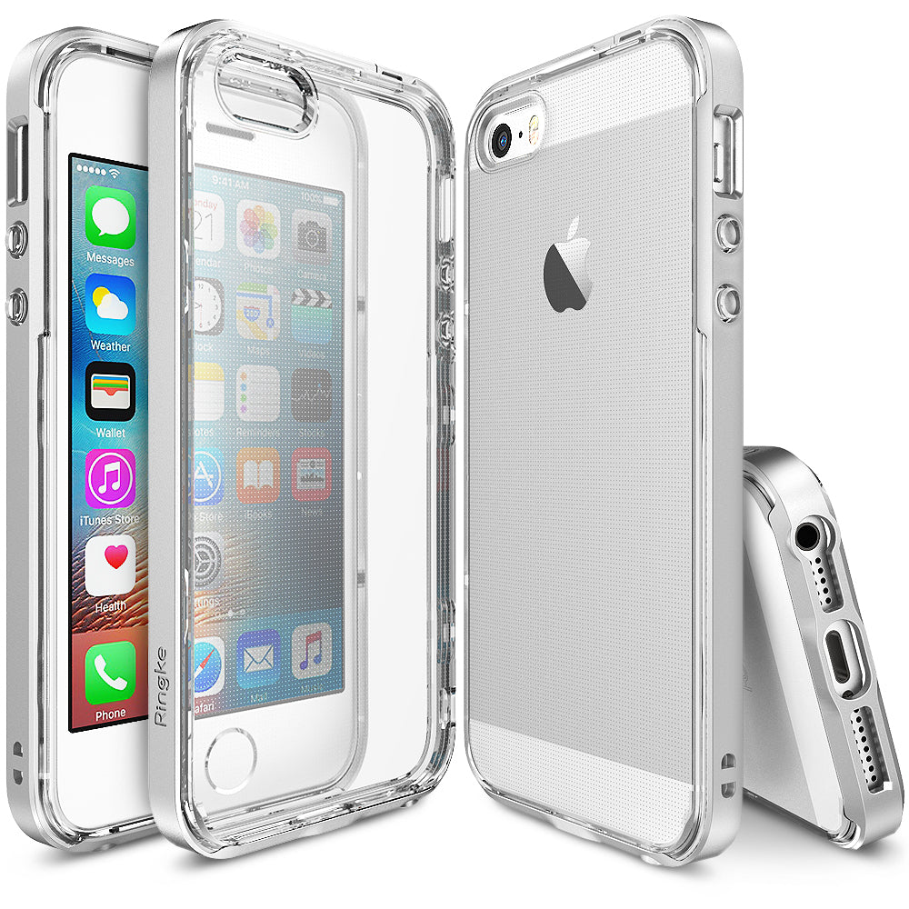 ringke frame heavy duty bumper case cover for iphone se 5s 5 main ice silver