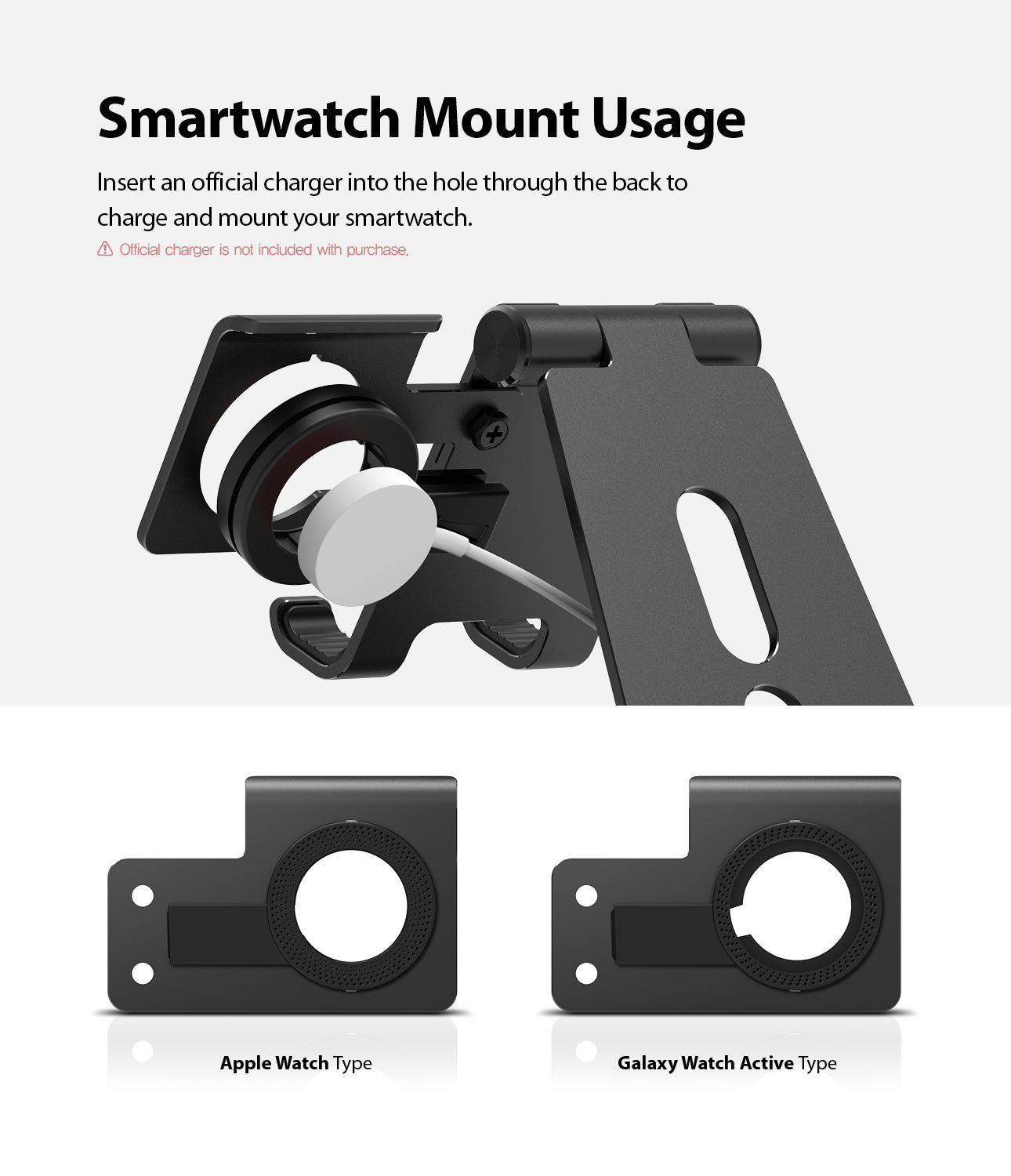 smartwatch mount usage
