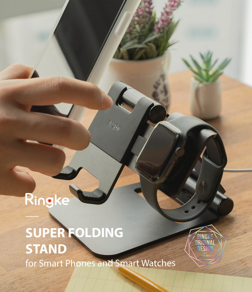 ringke super folidng stand made for smartphone and smartwatch
