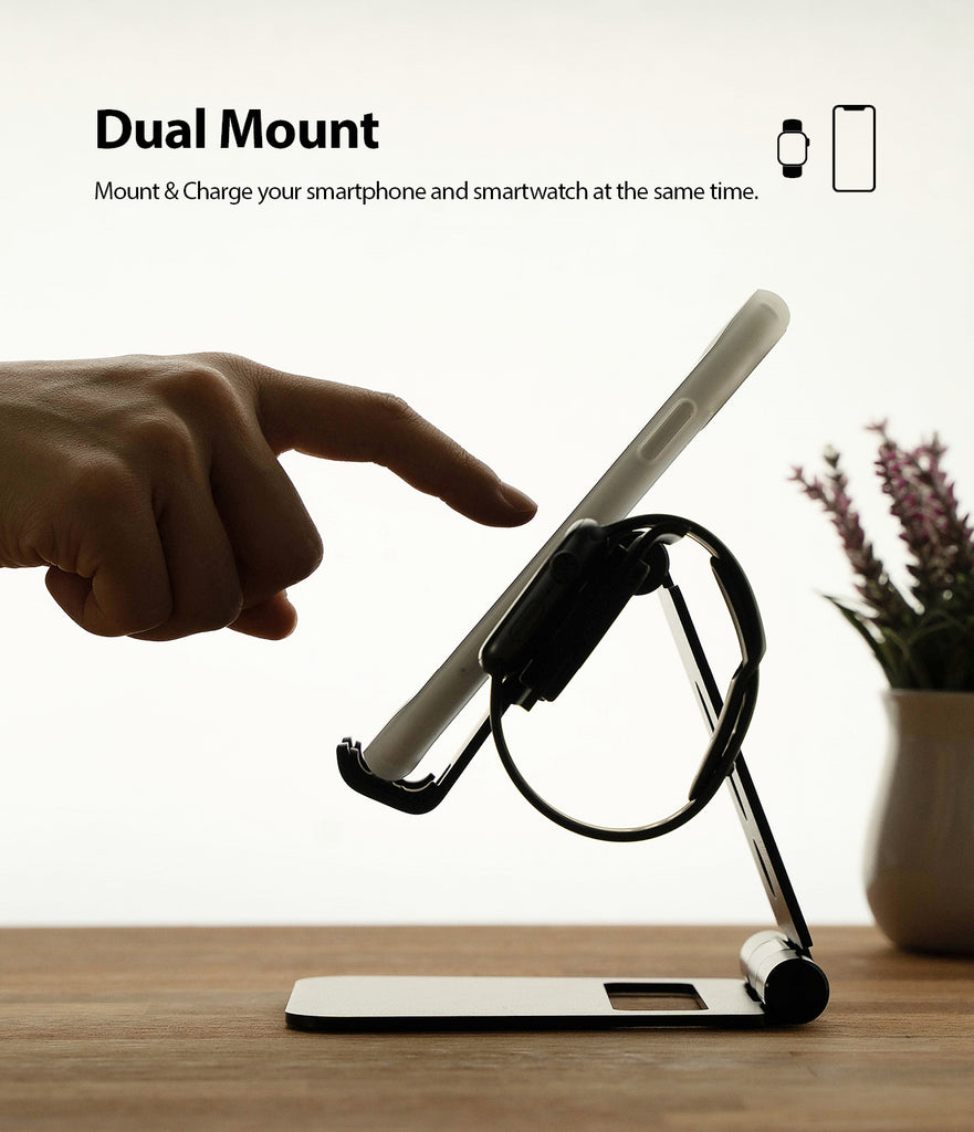 dual mount - mount your phone and smart watch together