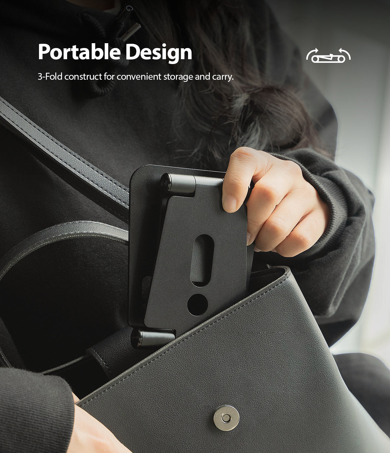 protable design provided with a slim profile