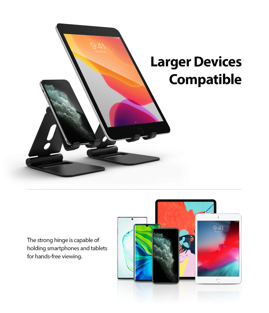 larger devices compatible : tablets, ipad, nintendo switch