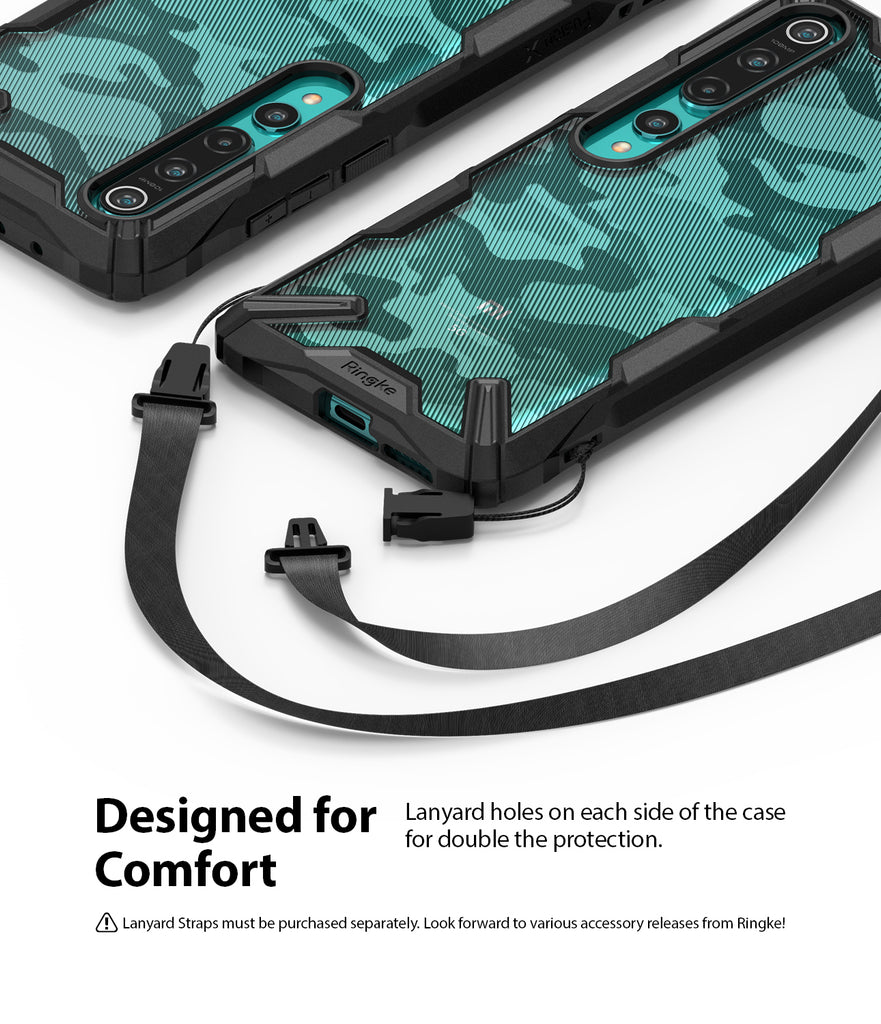 designed for comfort - lanyard holes on each side of the case to double the protection