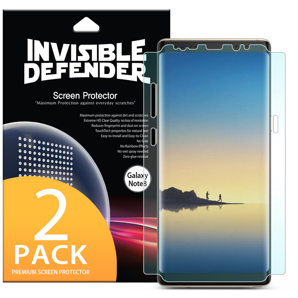 Galaxy Note 8 [INVISIBLE DEFENDER] Full Coverage Screen Protector