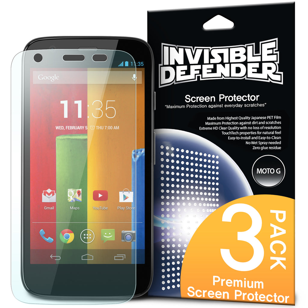ringke invisible defender film screen protector for moto g 2013 1st gen