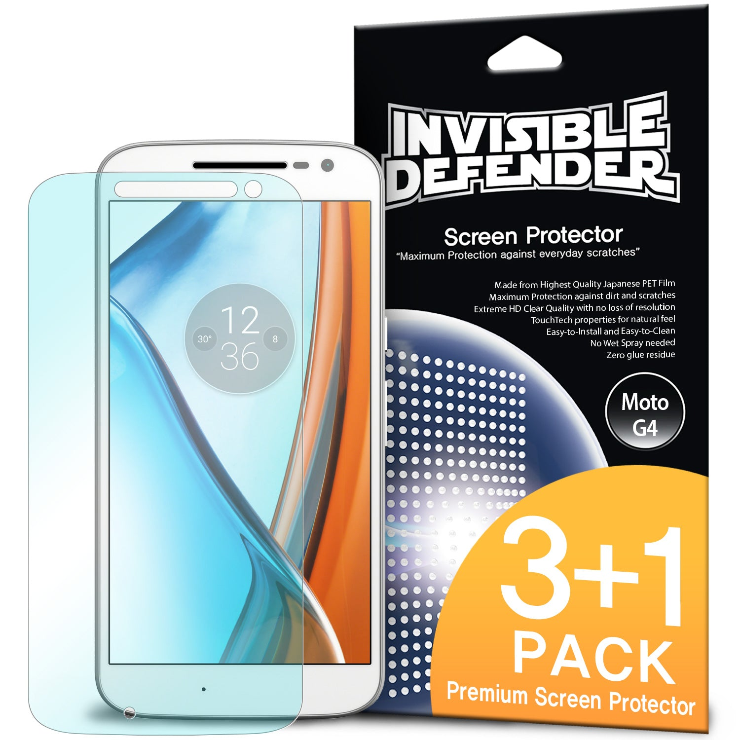ringke invisible defender film screen protector for moto g4