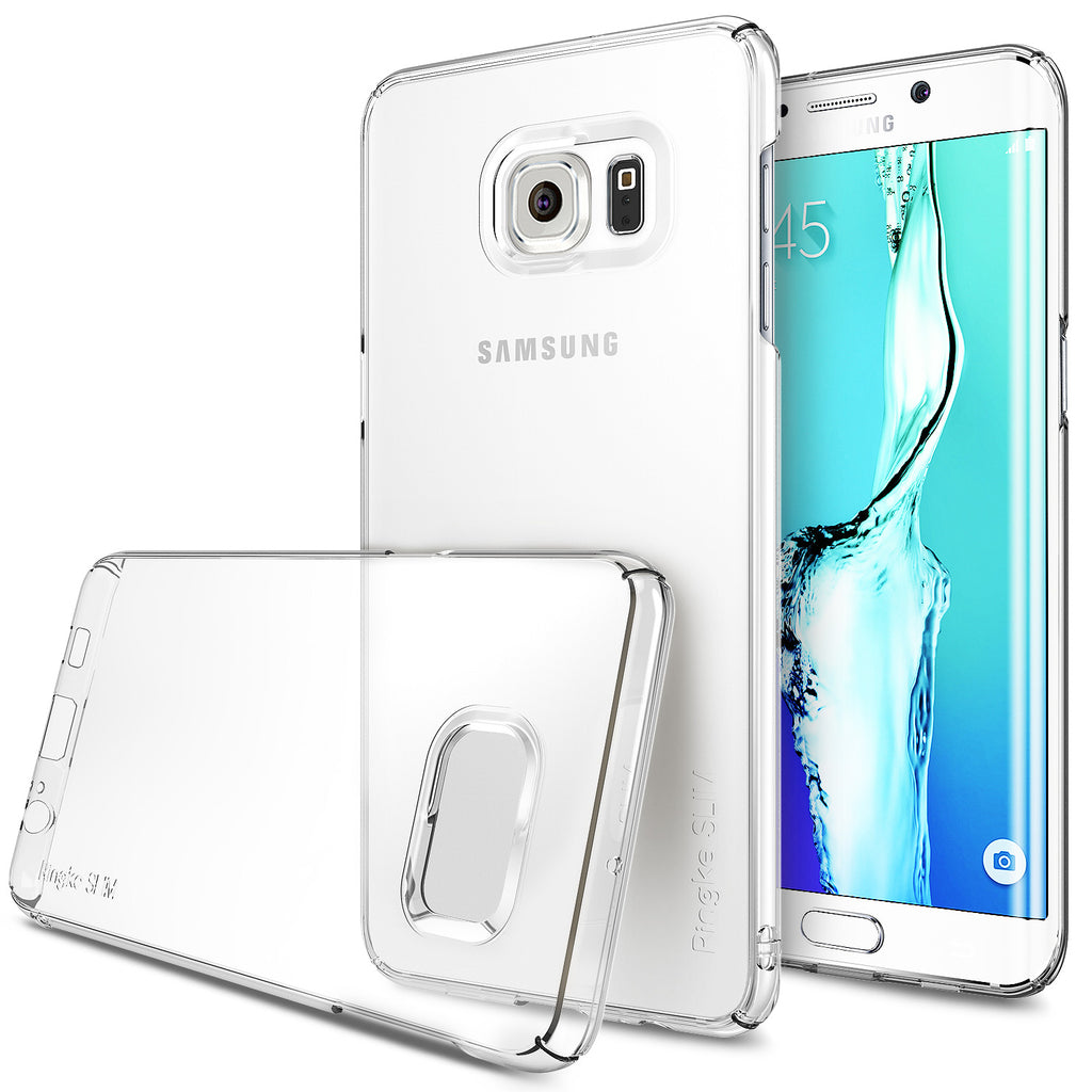 ringke slim premium thin hard pc lightweight cover case for galaxy s6 edge plus clear